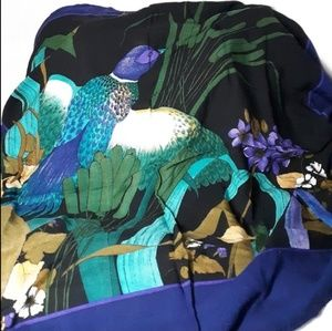 Accessories - Wild bird scarf with cool tones w/ natures beauty